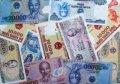 베트남 지도와 지폐
