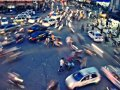 하노이의 길거리 원경