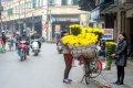하노이 길거리의 꽃 장사