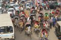 다카 시내의 교통체증