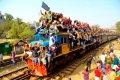 기차로 대이동하는 이슬람교인들
