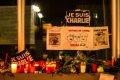 베를린 프랑스 대사관에서 열린 샤를리 에브도 테러 희생자 추모식