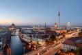 베를린 중심부의 야경