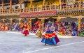 푸나카 종에서의 가면 춤 (드룹첸 축제)