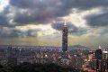 타이베이 금융센터의 야경