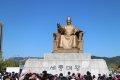 광화문 세종대왕 동상과 지하 전시장