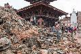 2015년 5월 14일 지진 피해를 입은 더르바르 광장 (유네스코 문화유산)