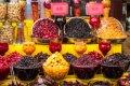 이란 테헤란의 건과일 및 견과류 바자