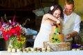 결혼식 케이크 컷팅