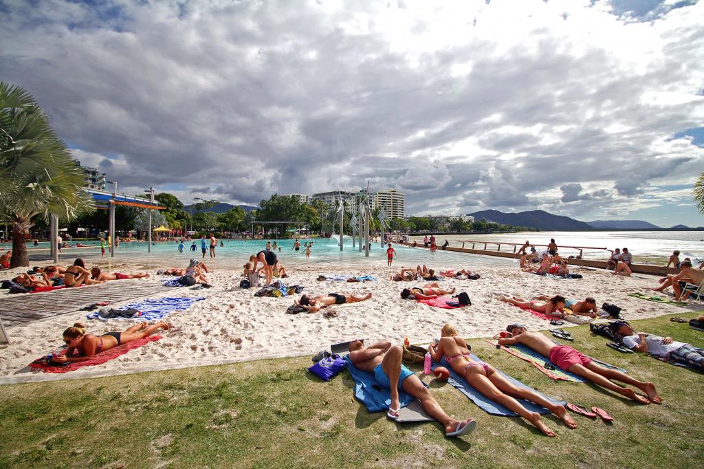 [바나나세계여행#30]해변을 사랑한 호주인들의 인공해변, 에스플러네이드 라군.(호주 케언즈)