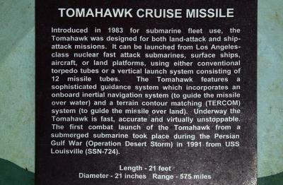 USS 보우핀 잠수함 박물관 및 공원, 토마호크 크루즈 미사일 04