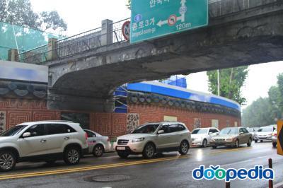 창경궁 앞 도로개조공사