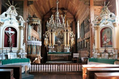 루블린 마을 민족지 박물관 그리스 카톨릭 교회 내부  01