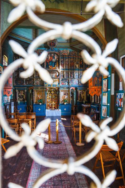 루블린 마을 민족지 박물관 그리스 카톨릭 교회 내부  02