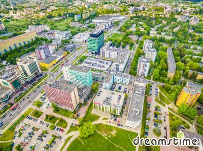 루블린 도시 항공사진