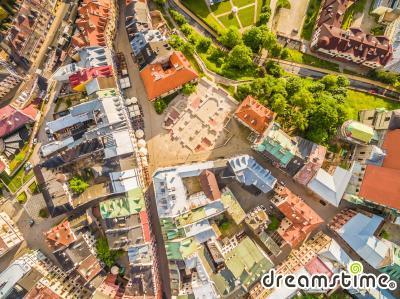 루블린 옛 마을 항공사진