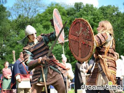 자비에프르지체 17세기 전투 재현 행사
