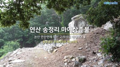 연산 송정리 마애삼존불 01