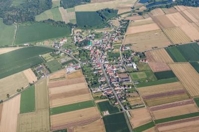 칼코브 마을 항공사진