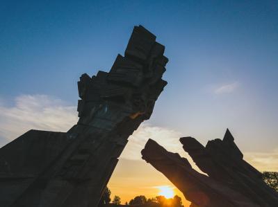 제 9요새 기념비 석양풍경