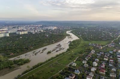 비스트리차 강 항공사진 06