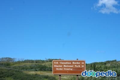 글레이셔 국립공원, 캐나다 국경 14 글레이셔 국립공원 10 국경 통과