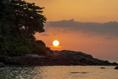 카타 해변 석양  08