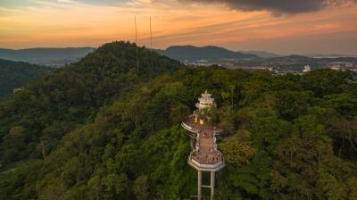 카오랑 전망 타워 석양  10
