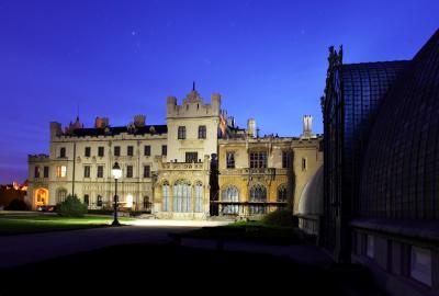 레드니체 성의 밤풍경