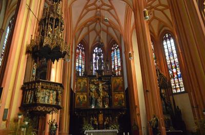 올로모우츠의 성 마우리체 교회 내부