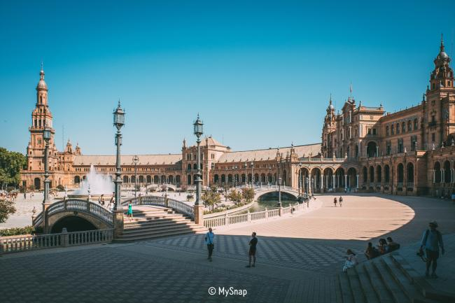 플라멩코, 스페인 광장의 도시, 세비야