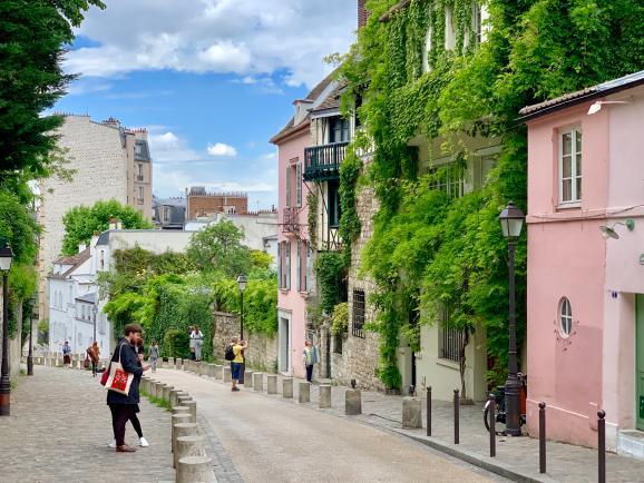 프랑스 파리 몽마르트 언덕의 예술가들